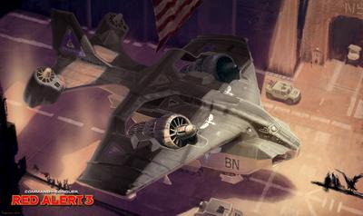 《红色警戒3》单位介绍:世纪轰炸机