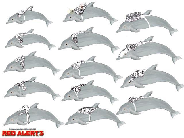 《红色警戒3》盟军新单位介绍--海豚