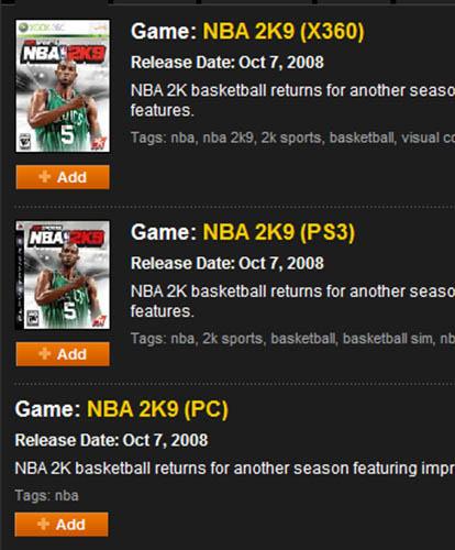 <b>《NBA 2K9》即将登陆PC平台?</b>