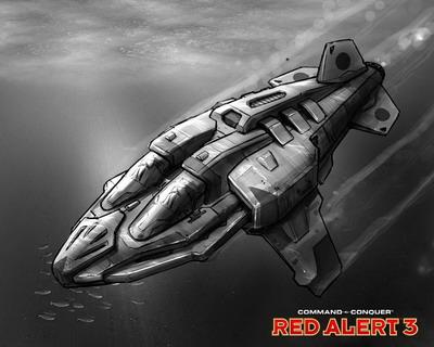 《红色警戒3》单位介绍:矛式迷你潜艇