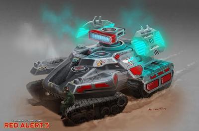 《红色警戒3》单位介绍: 幻影坦克