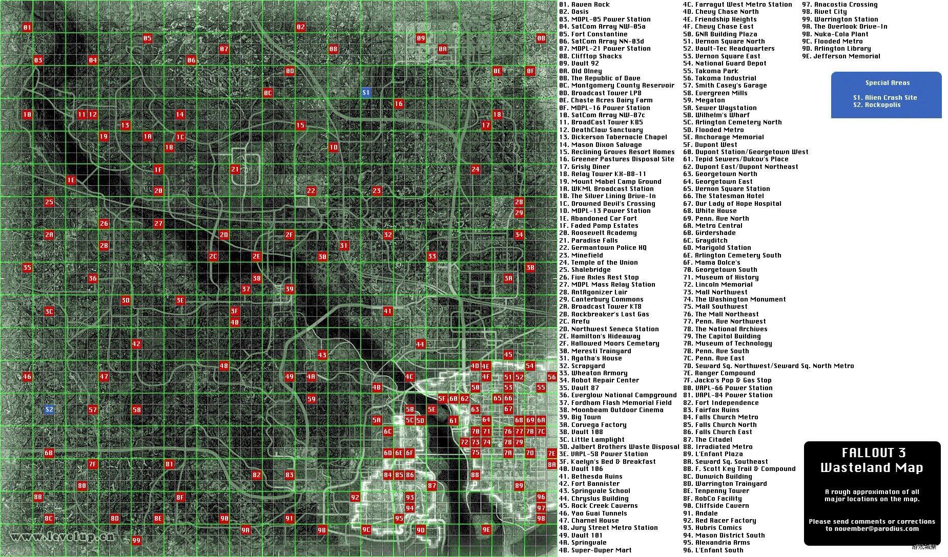 《辐射3》地图全重要地点坐标,全20个玩偶取得攻略