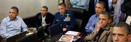 奥巴马会议室遭恶搞 漫画英雄全加入