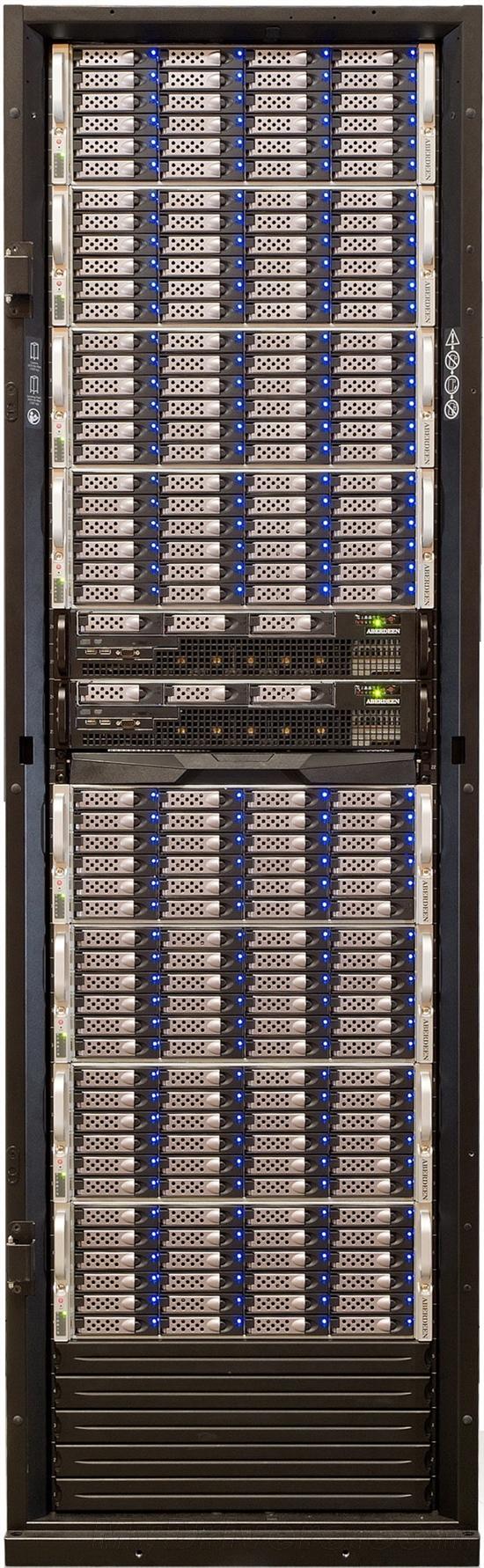 让你见识下 50万美元的1PB存储机柜是什么样的
