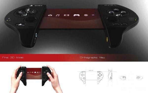 PSP外形幻想概念图赏 心形设计让妹纸忘记苹果!