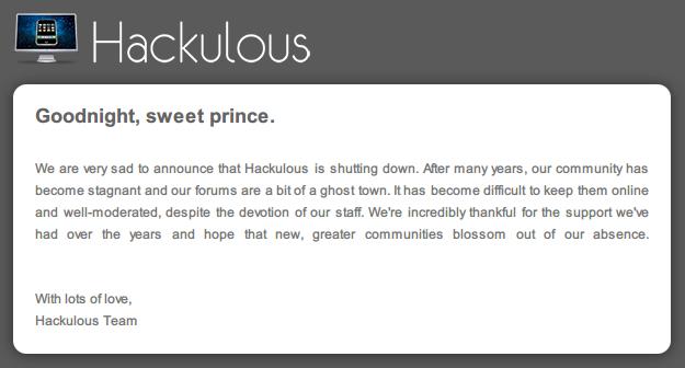 反盗版的胜利!应用破解网站Hackulous突然关闭