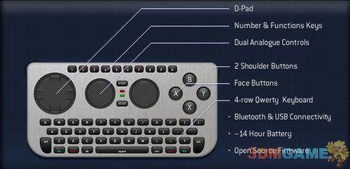 <b>开源蓝牙游戏控制器问世 全部按键均可自定义</b>