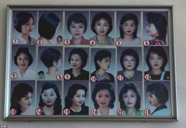 朝鲜官方很妇女想挑选得从头型理发的发型中审核热天无奈短发男士图片