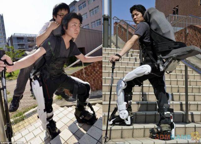 下身瘫痪者变身高达 日本高科技拯救其人生