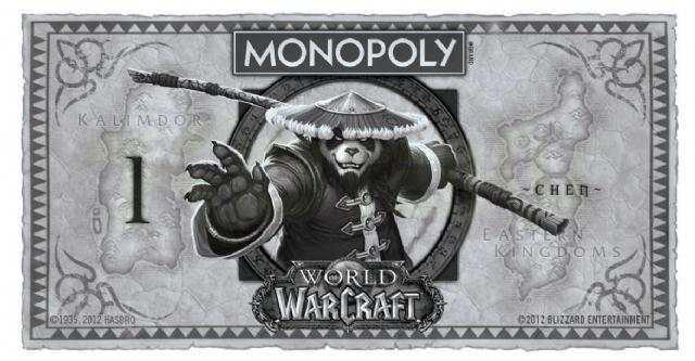 《魔兽世界》大富翁版钞票面面观 霸气十足有木有