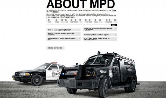 美国警察局网站超华丽 酷似《任务呼唤》官网?
