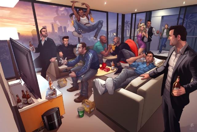 《GTA5》粉丝必看截图:疯狂壮男穿粉裙意欲何为?
