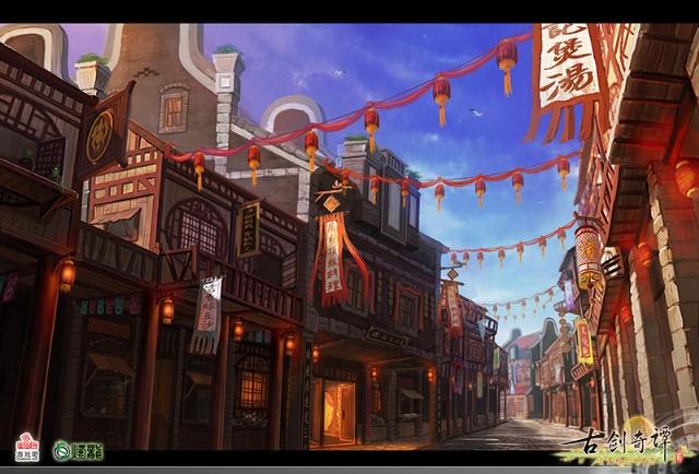 丰富瑰丽各具风貌 《古剑奇谭2》特色建筑设定图