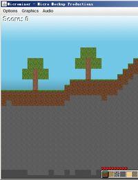 《微型矿工》(Microminer)绿色JAVA版(2D版minecraft)