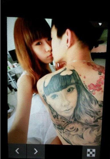 各种求爱必杀技必看 台湾男背纹女友脸庞表爱意