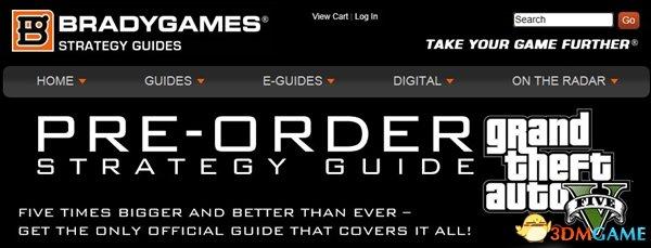 准备万全《侠盗猎车5》400页官方攻略书 预售开启