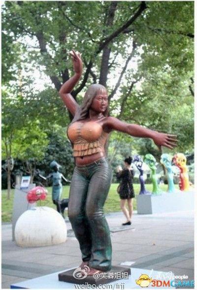 芙蓉姐姐回应上海雕塑:没通知我,否则会更完美