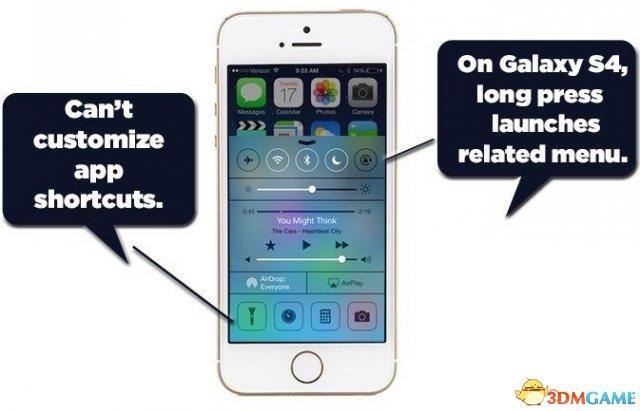 优势与缺点并存 外媒吐槽苹果iOS 7的七大短板