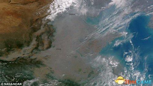 "NASA最新卫星图:雾霾严重 半个中国""消失""了"