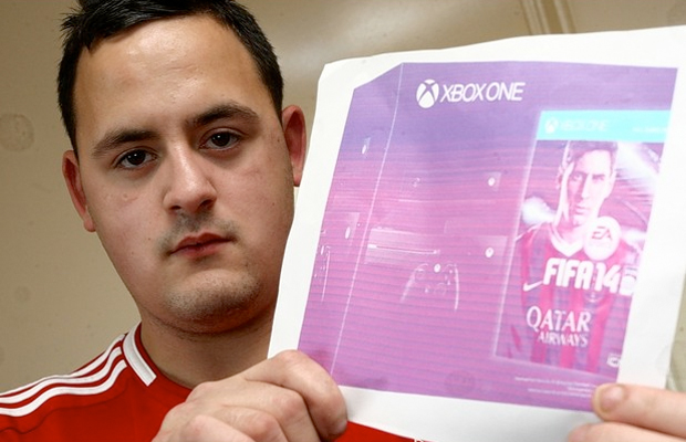小伙花重金网购Xbox One 受骗收到打印照片