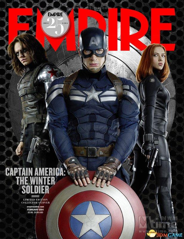 《美国队长2》登杂志封面 黑寡妇冬日战士齐亮相