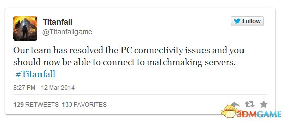 官方表示《泰坦陨落》PC连接故障得到修复