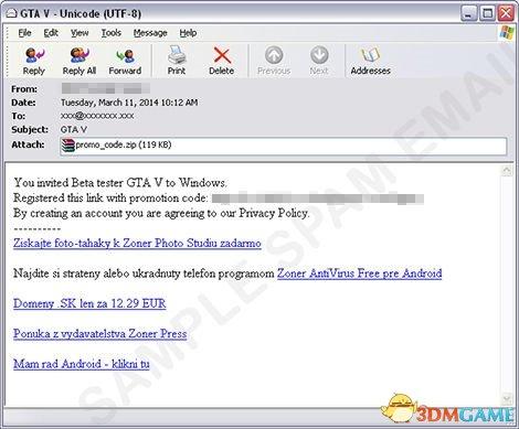 要注意 恶意软件伪装成《GTA5》PC版测试邀请