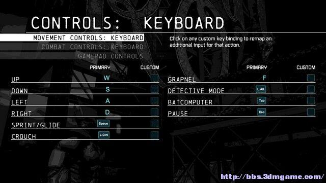 蝙蝠侠:阿卡姆起源-黑门 基本按键操作指南