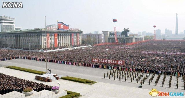 朝鲜人民举国欢庆金正恩将军再次当选最高领导人