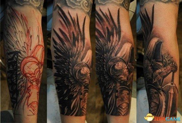 堕天使玛瑟尔,令人感到不寒而栗的是其中甚至还包括一些割肉纹身作品.