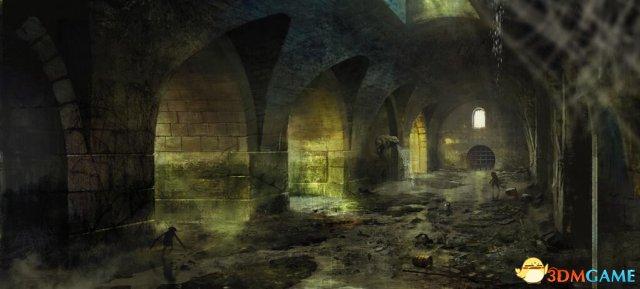 《巫师3:狂猎》新原画赏 昏暗下水道危机四伏