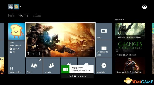 <b>Xbox One将于6月更新时支持外接硬盘与好友实名</b>