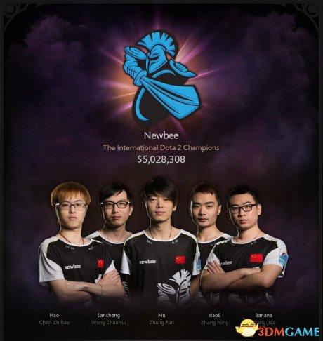 为国争光 中国NewBee队获《DOTA2》TI4世界冠军