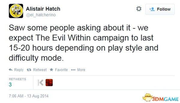 新作《恶灵附身》游戏时长为15-20小时 不包括DLC