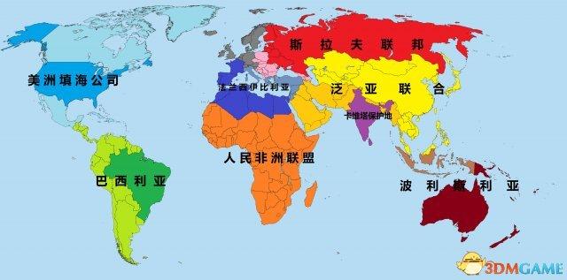 文明:太空 全势力版图 各势力区域范围一览