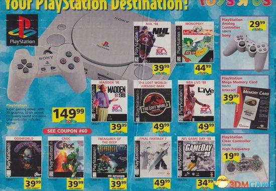 都玩过的算是骨灰级了!初代PS主机游戏销量榜