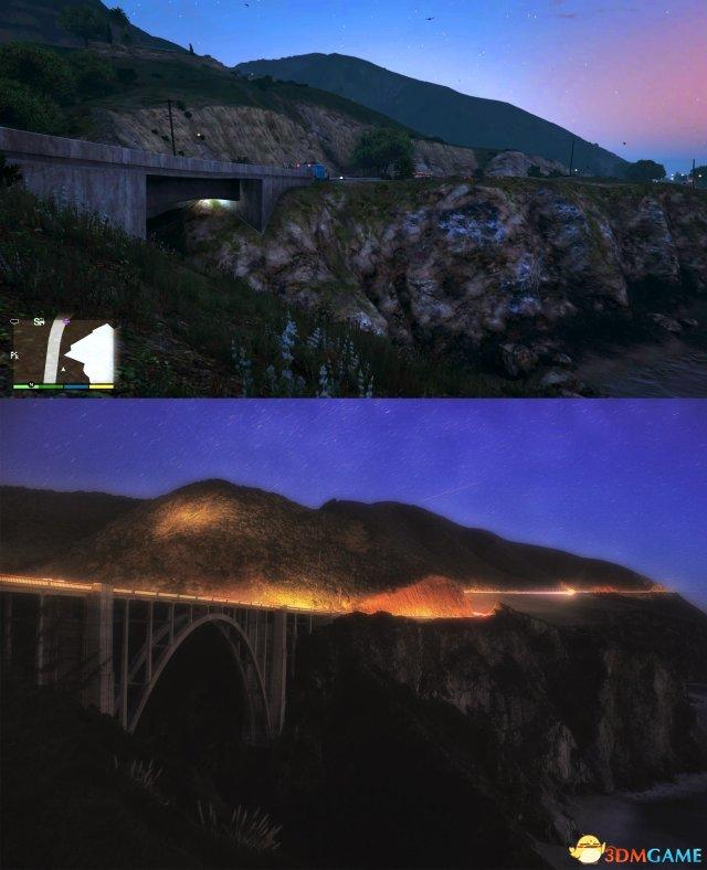 30万左右的车_神还原 《侠盗猎车5》圣安地列斯与现实洛杉矶对比_3DM单机