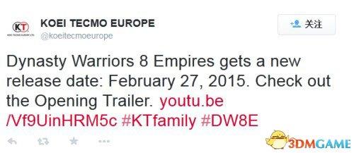 欧版也延期《真三国无双7:帝国》继美版之后跳票