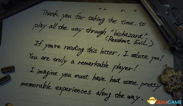 《生化危机》制作组写信 致谢打通变态模式的玩家