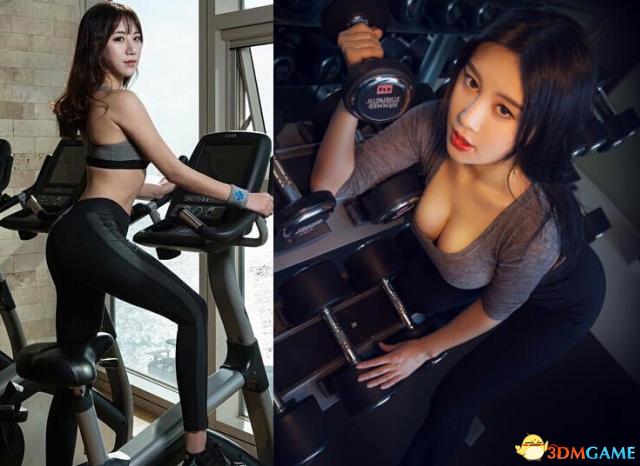 性感健身私房照大PK!中国乳神完爆韩最美女教师
