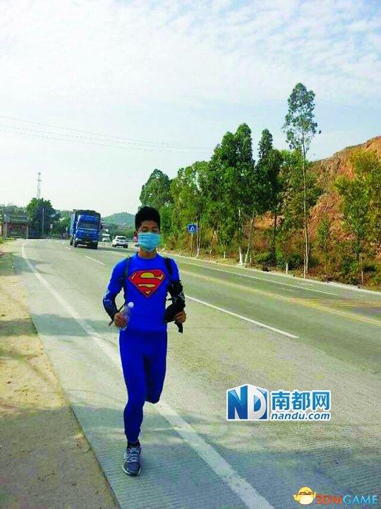 男子从深圳奔回汕头过年:5天时间跑350公里过年