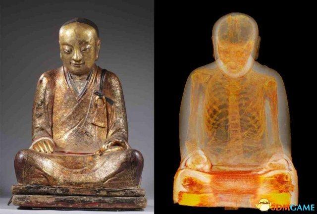 中国千年佛像内发现打坐高僧肉身 内脏已被掏空