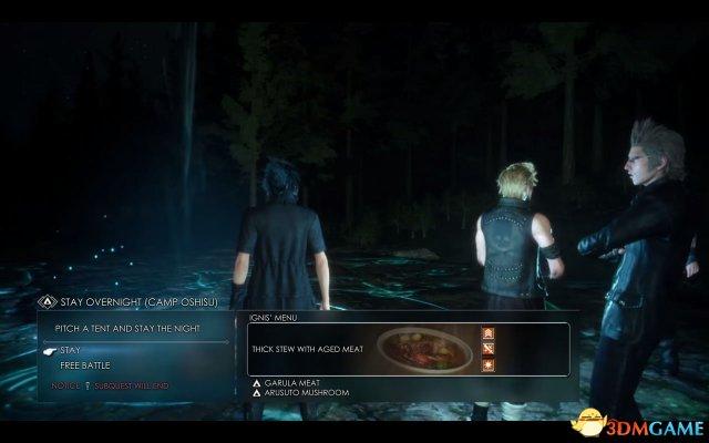 小队加入露营系统还能烤肉吃,最终幻想15