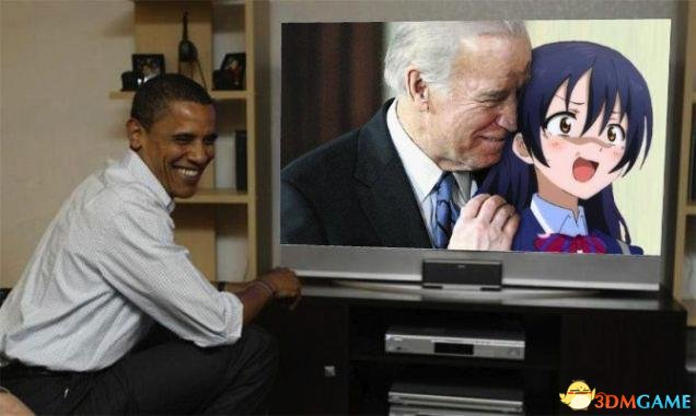 新闻资讯_继奥巴马之后 拜登也遭恶搞 竟当众调戏动漫女角色_3DM单机