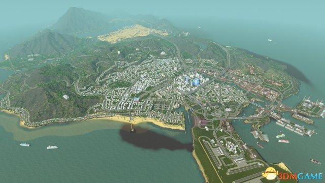 城市:天际线 神级城市MOD 大神高还原度GTA5城市MOD