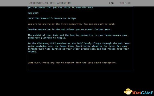 <b>《Zork》风范 《星际穿越》被改编为文字冒险游戏</b>