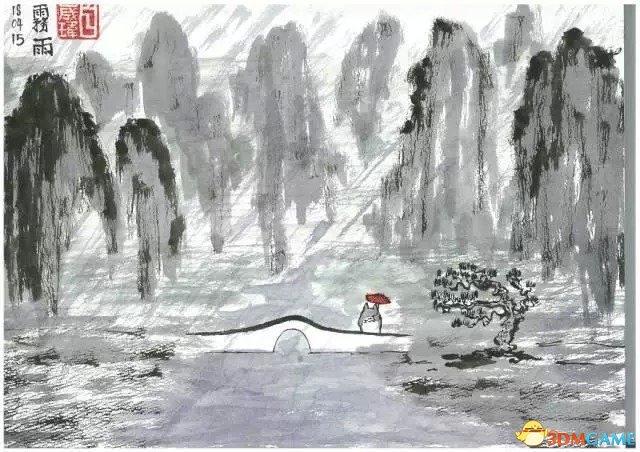 竟毫无违和感!当国外动漫角色乱入中国水墨画中
