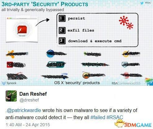 苹果没那么安全:黑客在大会上演示写Mac恶意软件