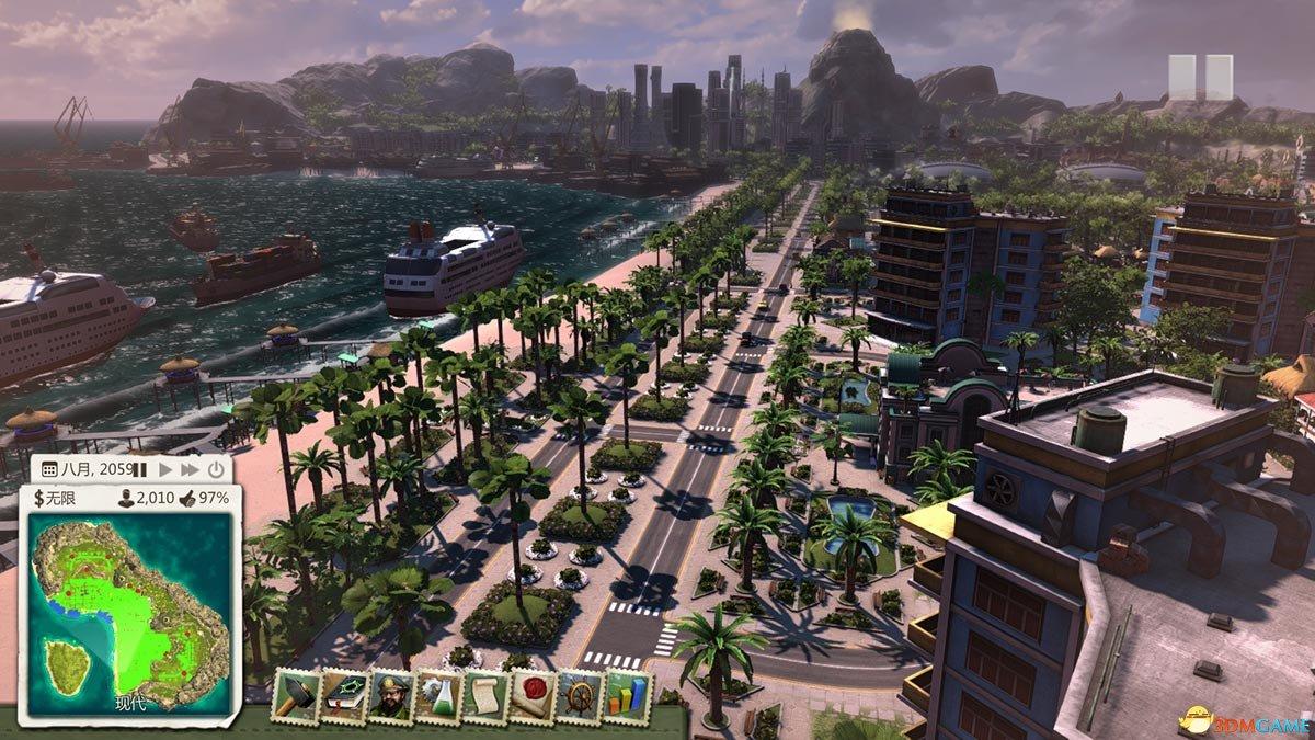 海岛大亨5 海岛大亨存档 把海岛大亨当特大城市玩