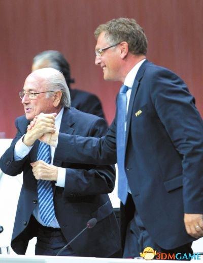 国际足联主席布拉特宣布辞职 成功连任仅仅四天